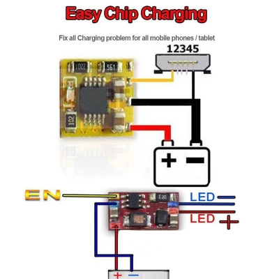 ECC Easy chip charge fix all phones tablets charger problem Easy chip led