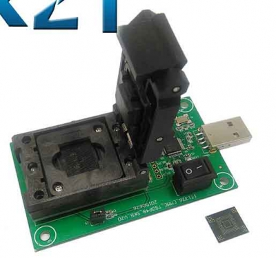 eMMC169 eMMC153 Test Socket Adapter to USB Interface BGA169 BGA153