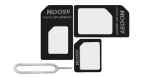 4-IN-1 Nano SIM Card Adapter Micro SIM Adapters for iphone 4 4S 5 6 6S