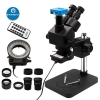 Black Simul focal 7X-45X Trinocular Microscope with HDMI Camera