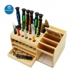 Toolguide multi-functional screwdriver storage box wooden container