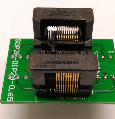 Simple SSOP20 to DIP8 IC test socket adapter SSOP20 0.65mm