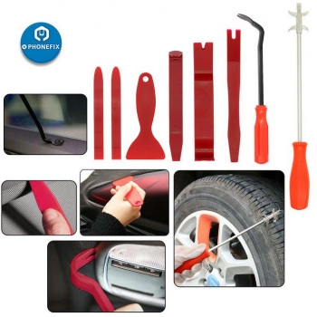 8pcs car Trim Pry Tool Kit Tire Cleaning Hook Auto Fastener Remover