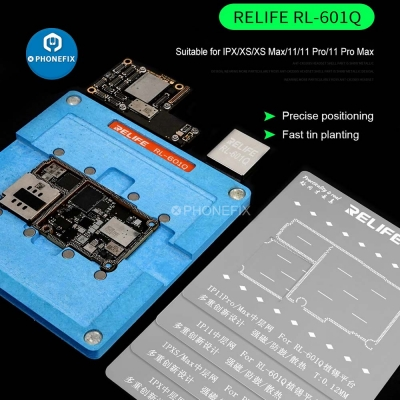 RELIFE RL601Q iphone X-11 Middle Positioning Tin Planting Platform
