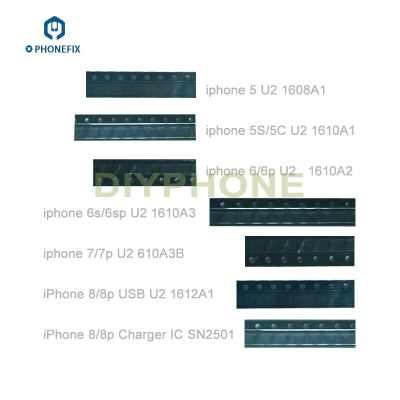 iphone 5S 6 6S 7 7P 8 USB charge IC U2 1608A1 A2 A3 610A3B 1612A1