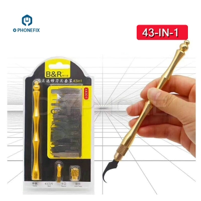 43 IN 1 Phone PCB BGA chip burin Graver scraper cutter iphone CPU Tool [FIX251]