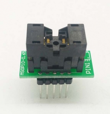 Simple MSOP10 to DIP10 IC test socket adapter SSOP10 0.5mm