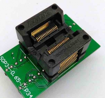 Simple SSOP34 to DIP34 IC test socket adapter 0.65mm