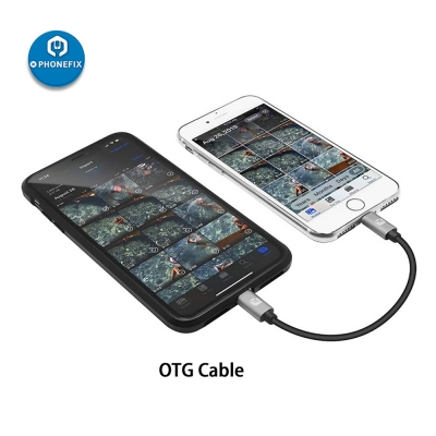 Apple Lightning to Lightning OTG Cable Picture file Transfer Copy