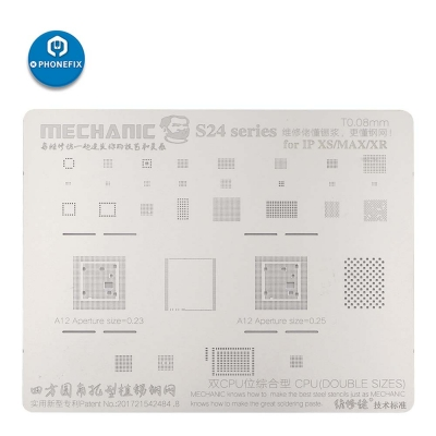 Mechanic 0.08 0.12mm S24 series BGA Reballing Stencil for iphone soldering
