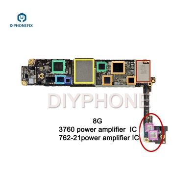 iphone 8 8P power amplifier IC 4G signal 762-21 3760 power amplifier chip