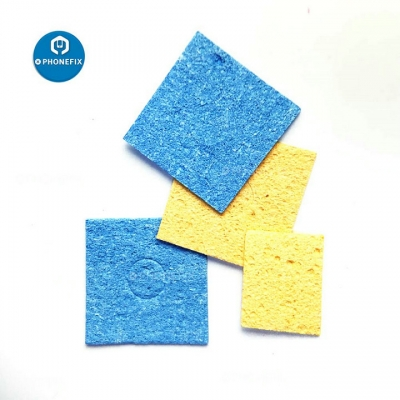 Yellow Blue Cleaning Sponge Soldering Iron Tip Welding Cleaning Pads