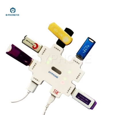 SSK SHU011 USB2.0 HUB power splitter with 7 USB Ports converter extender