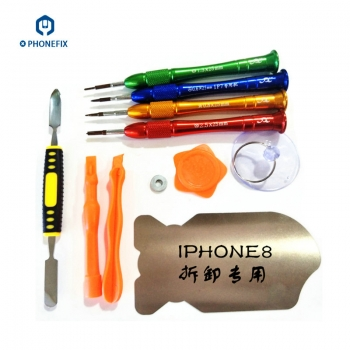 VIPFIX Customized iphone 7 8 8 Plus screwdriver 11pcs Opening Tools Kit