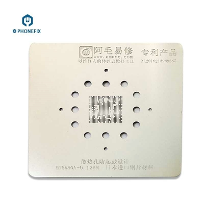 0.12mm MT6580A Mobile Phone BGA Reballing Stencil Template
