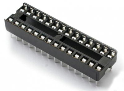 Narrow / Wide body 28 Pin DIP IC Socket Solder Type