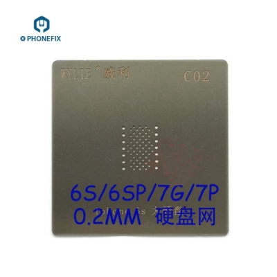 iPhone 6s 6s Plus 7 NAND BGA Reballing Stencil PCIE NAND Tin Plate