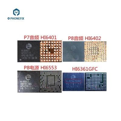 Huawei MATE7 P8 audio IC HI6561 HI6401 HI6361 Power IC HI6555