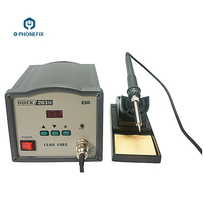 Quick 203 digital temperature soldering station Lead free soldering station