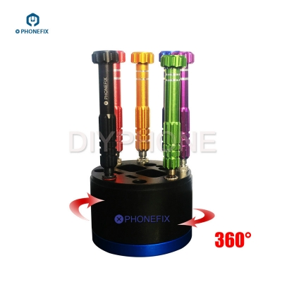Mini 360 Rotary Screwdriver Storage holder Desktop storage rack
