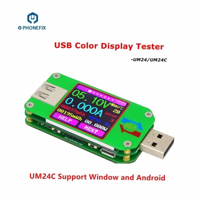 UM24 UM24C Color Screen Display USB Tester DC Voltmeter Ammeter