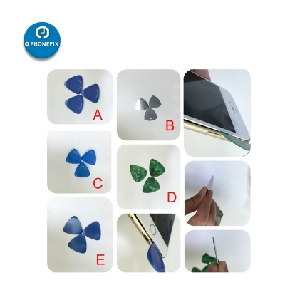 2pcs PHONEFIX Phone Opening Tool Plastic Triangle Pry Repair Tool