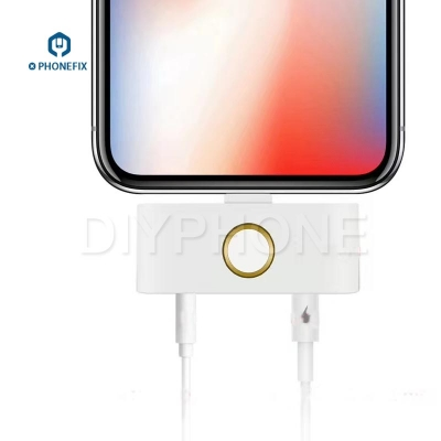 iPhone X 8 7 external home button Audio Jack Headphone Converter