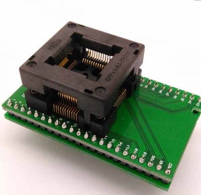 QFP44 to DIP44 Burn-in Socket 0.8mm TQFP44 FQFP44 programmer adapter