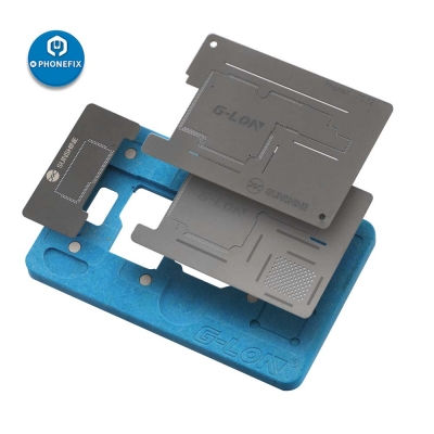 G-Lon iPhone X XS MAX Middle Board BGA Reballing Stencil kit