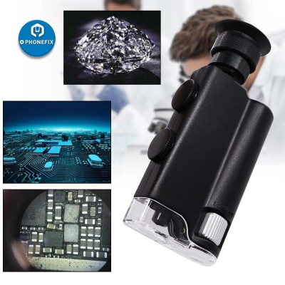 Portable 60X-240X Pocket Microscope Handheld Magnifying Glass