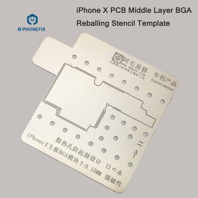 iPhone X PCB Middle Layer Repair BGA Reballing Stencil Template