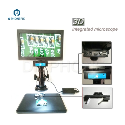 0.7-4.5X All-in-one 3D Integrated Microscope 10.6 inch display Phone Repair