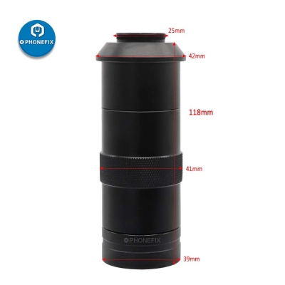 130X C-MOUNT lens Adjustable focus Camera Objective lens