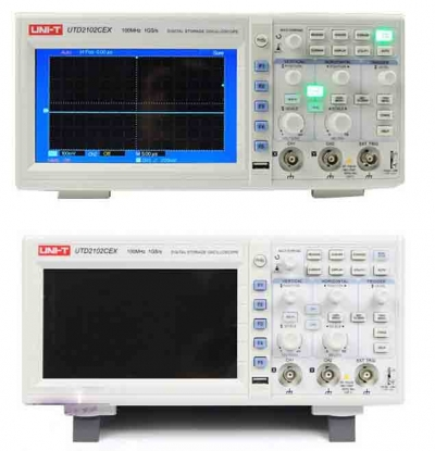 UNI-T UTD2102CEX Digital Storage Oscilloscope 100MHz Dual Channels 1Gs/s