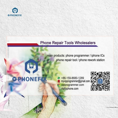 Custom standard PVC Transparent Visit Business Cards Phone Repair Shop