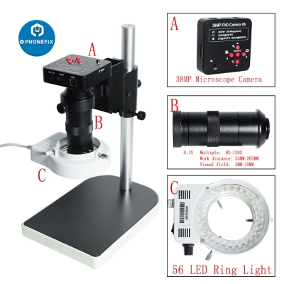 38MP HDMI digital microscope for electronic PCB soldering repair