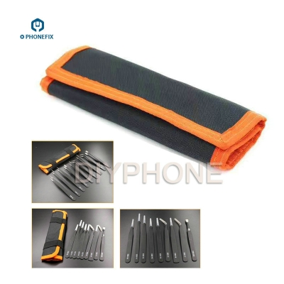 9-IN-1 Tweezers Toolkit Anti-magnetic Anti-static Precision Tweezers