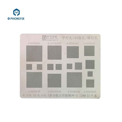 VIPFIX 0.3 0.4 0.5mm BGA Reballing Stencil Template multiple holes
