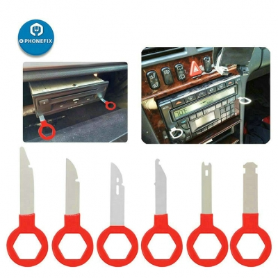 6 Pieces Radio Removal Tool Key Tool with Easy Grip Handles