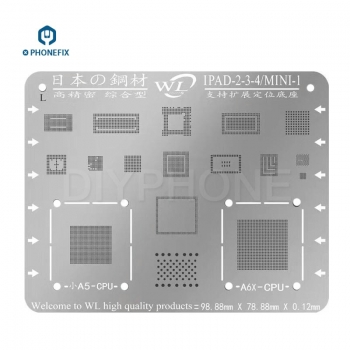 WL Multi-Purpose BGA Stencil Templates For ipad 2345 mini1234 pro