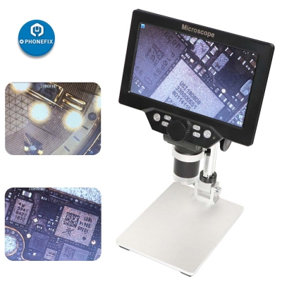 G1200 1200X Digital Microscope With 7 Inch HD LCD and Metal Stand