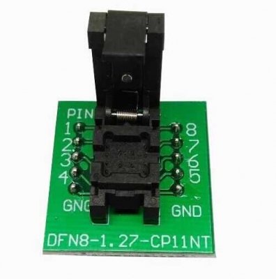 DFN8 programming adapter 5×6 1.27mm QFN8 socket adapter
