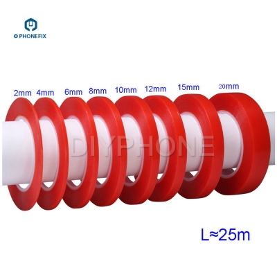PET Red Film Clear Double Sided Tape for phone Screen repair