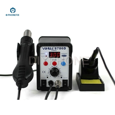 110V YH-8786D 2 In 1 Hot Air Gun Rework Station Soldering station