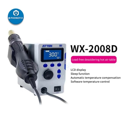 ATTEN WX-2008D Hot Air Rework Station For Soldering beginner