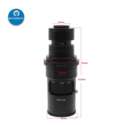 200X C mount Zoom Lens For HDMI USB Video Microscope Camera