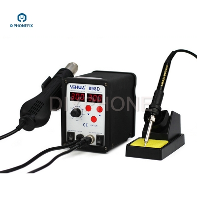 YH898D 2 in 1 soldering station and desoldering SMD Rework Station