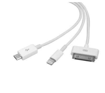 3 in 1 USB Charging Cable for iPhone Samsung HTC LG Android