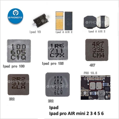 Ipad 56 mini4 pro air12 Booster diode inductance Coil light control IC