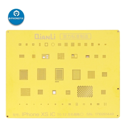 QianLi Golden 2D BGA Reballing Stencil For iPhone 6 7 8 X XS Soldering